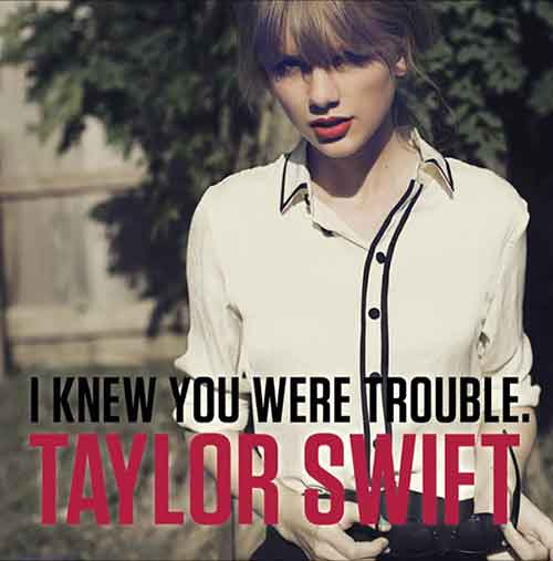 I Knew You Were Trouble Song Lyrics, Taylor Swift, Album Red, Songstune.com
